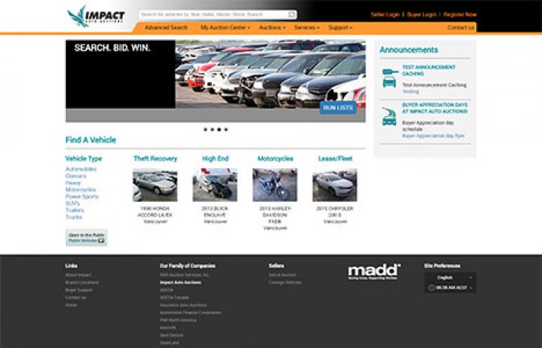 Impact Auto Auctions Website Has Updated Look New Features Auto Remarketing