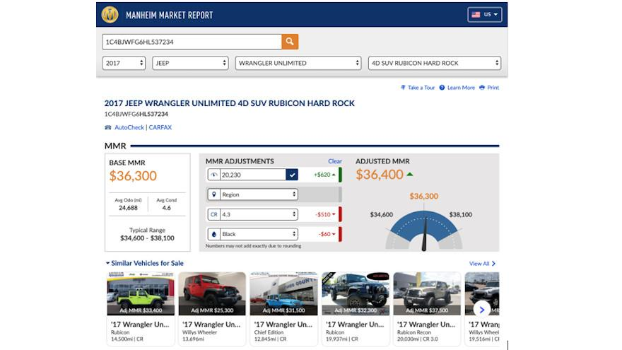 Manheim's personalized inventory helps dealers find, compare