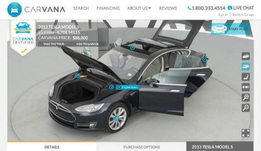 carvana certified pre owned tesla debuts auto remarketing. Black Bedroom Furniture Sets. Home Design Ideas