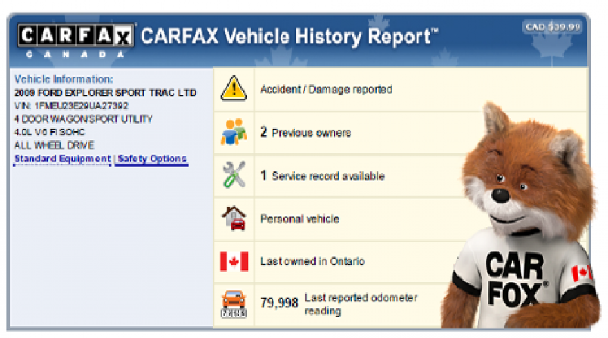 Canadian Used Car History Reports
